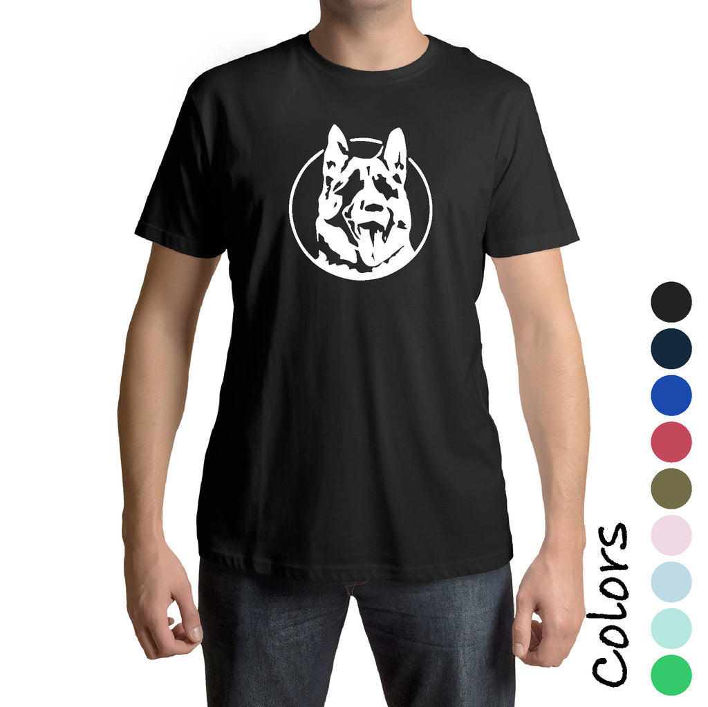 New German Shepherd Dog Face Gift idea Dad funny dog trainer T shirt