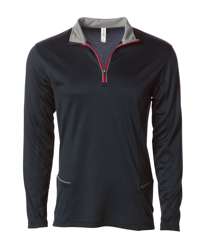 Independent Adult Lightweight Poly-Tech 1/4 Zip Cadet Fleece EXP14PQZ - guyos apparel.com