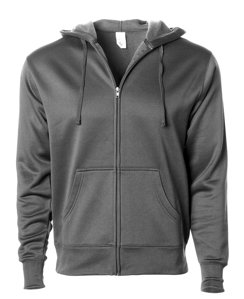 Independent Adult Heavyweight Poly-Tech Zip Hooded Fleece EXP444PZ - guyos apparel.com