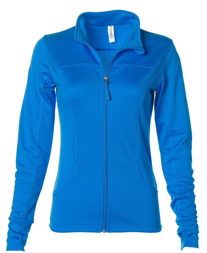 Independent Womens Lightweight Poly-Tech Zip Fleece EXP60PAZ - guyos apparel.com