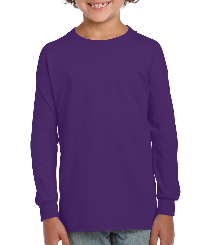 Gildan Ultra Cotton Youth Long Sleeve Tee G2400B - guyos apparel.com
