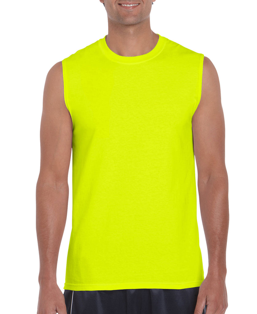 Gildan Ultra Cotton Adult Sleeveless Tee G2700 - guyos apparel.com