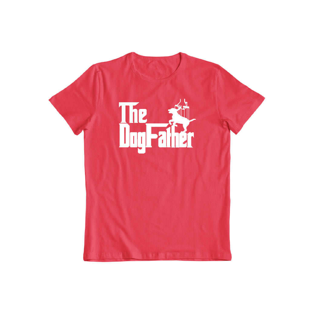 The Dogfather Pet Parent Dad Doggy Daddy Fathers Day Present Gift Mens Tee