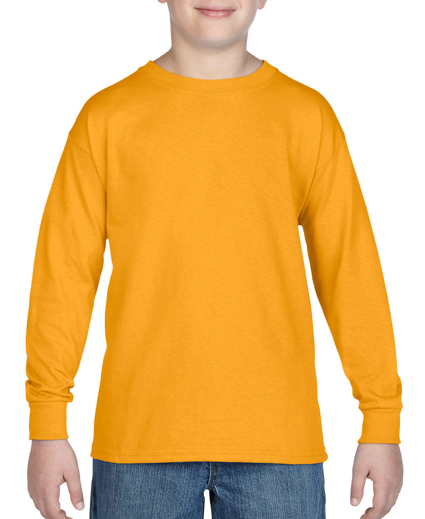 Gildan Heavy Cotton Youth Long Sleeve Tee G5400B - guyos apparel.com