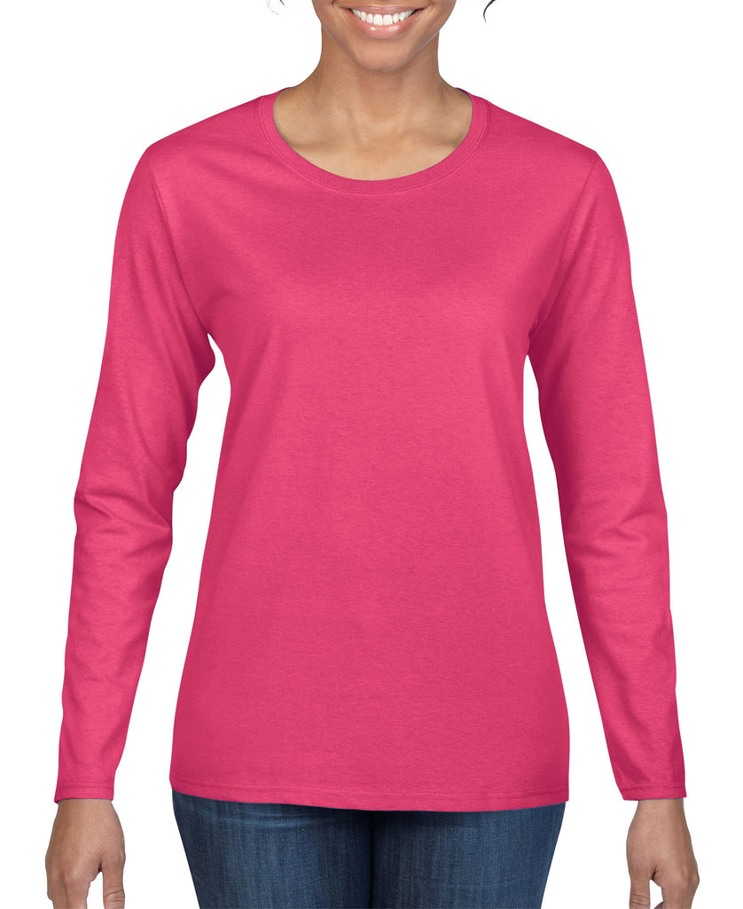 Gildan Heavy Cotton Ladies Long Sleeve Tee G5400L - guyos apparel.com