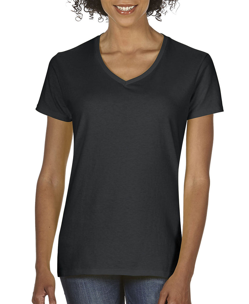 Gildan Heavy Cotton Ladies V-Neck Tee G5V00L - guyos apparel.com