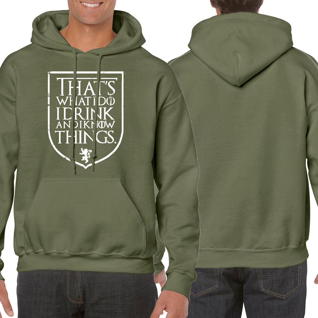 Funny Hoodie THAT'S WHAT I DO I DRINK AND I KNOW THINGS lazy house hooded USA Great Gift