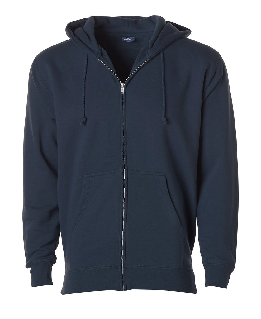 Independent Adult Heavyweight Zip Hooded Fleece IND40Z - guyos apparel.com