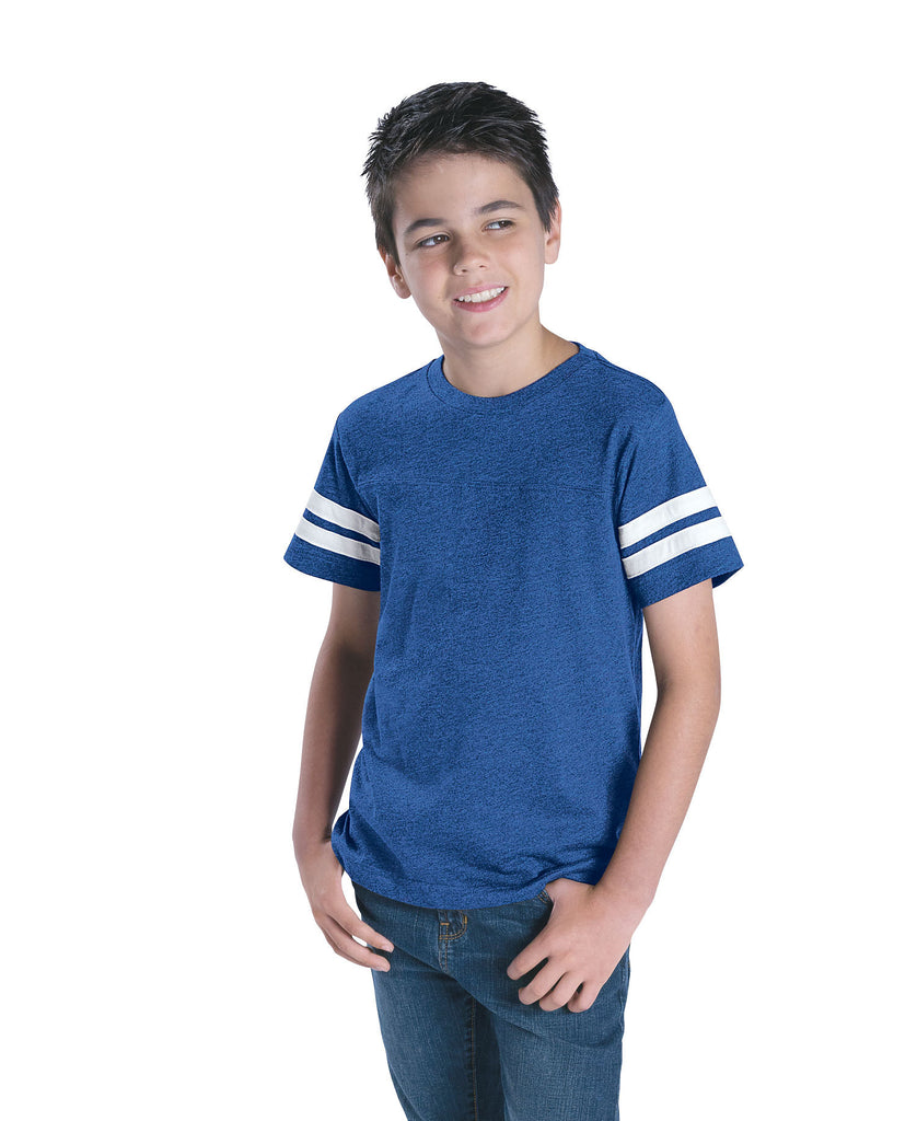 LAT Youth Football Fine Jersey Tee LA6137 - guyos apparel.com