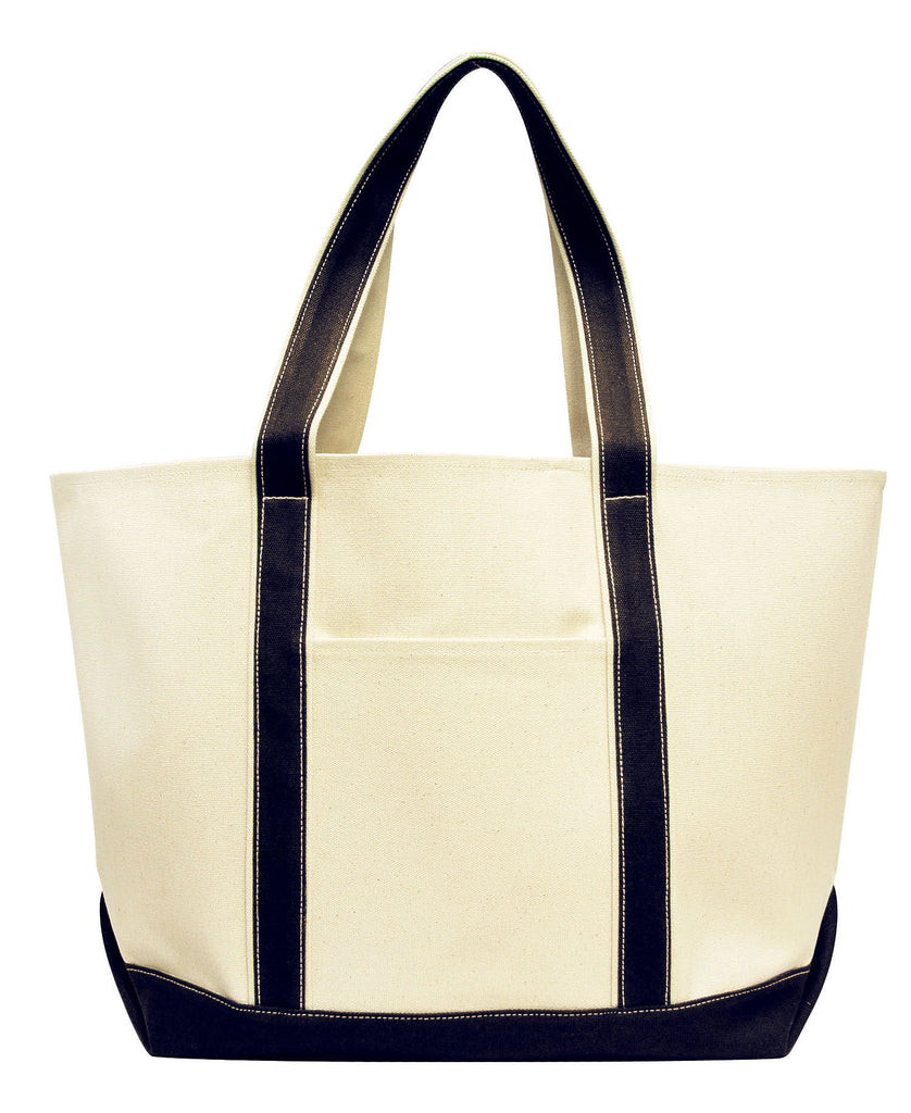 Liberty Bags Carmel Classic XL Cotton Canvas Boat Tote LB8872 - guyos apparel.com