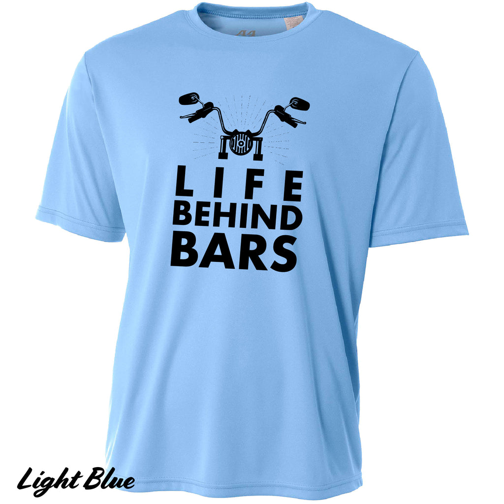 Life Behind Bars Funny Motorcycle Cooling Performance Short Sleeves