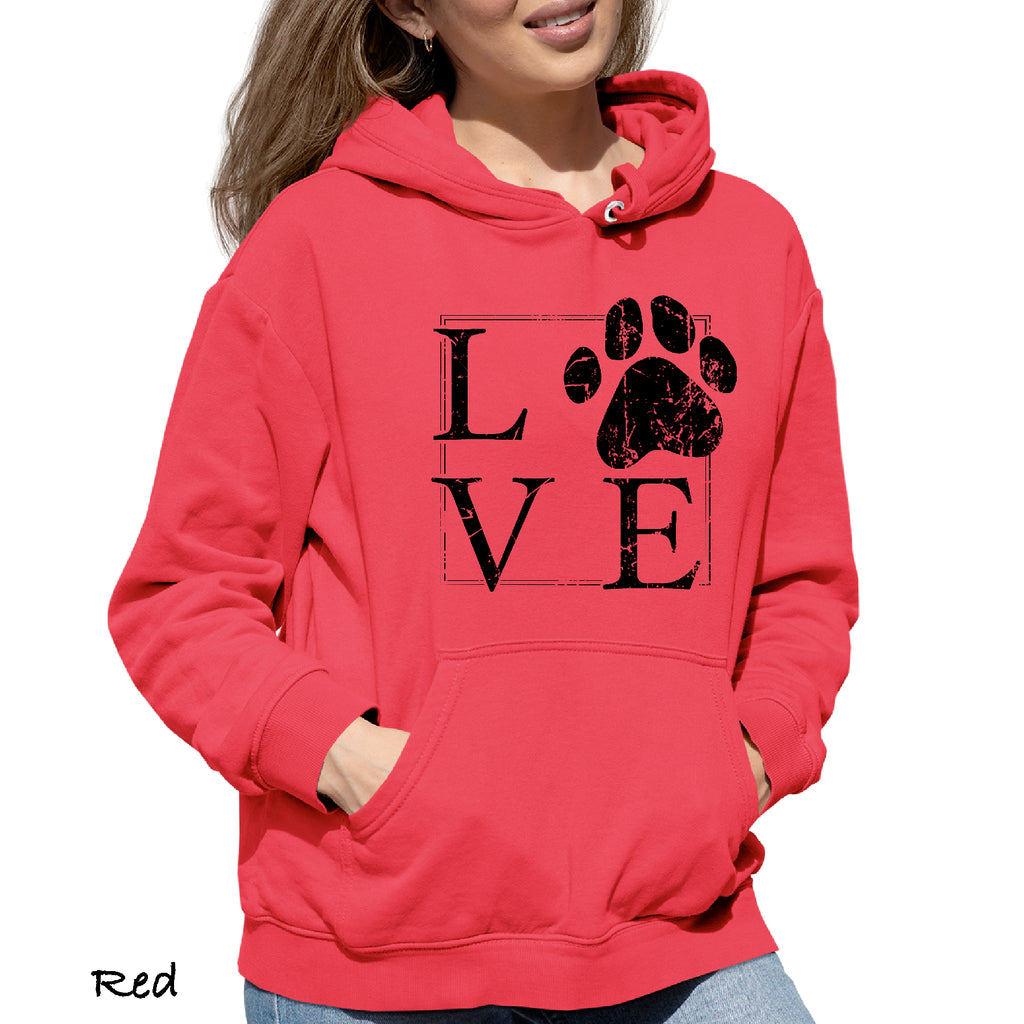 Woman's Hoodie LOVE PAW OUT OF THE BOX Puppy  Funny DOG LOVER College Gift Hooded Sweatshirt