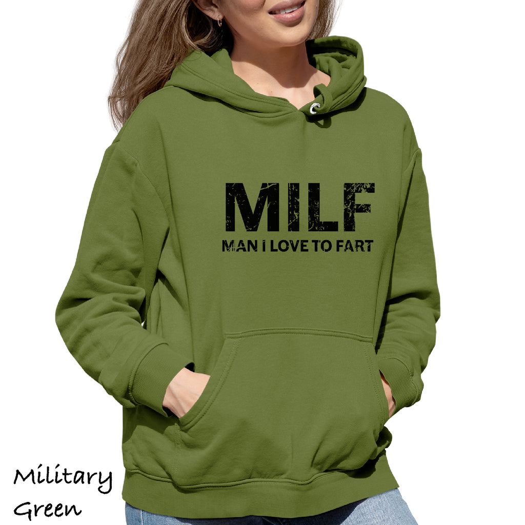 Woman's Hoodie MILF MAN I LOVE TO FART SEXY MOM CHRISTMAS funny Sweatshirt