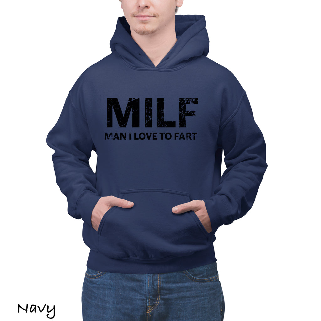 Hoodie MILF Man Love to Fart Funny Novelty CHRISTMAS Gift Hooded Sweatshirts Hoodies For Men
