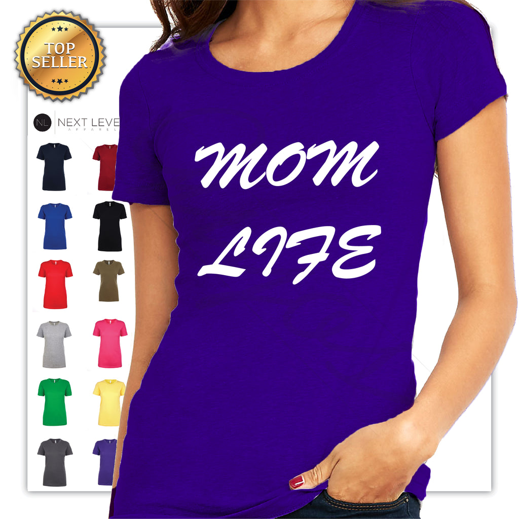 Mom Life Funny Printed T-Shirt - guyos apparel.com
