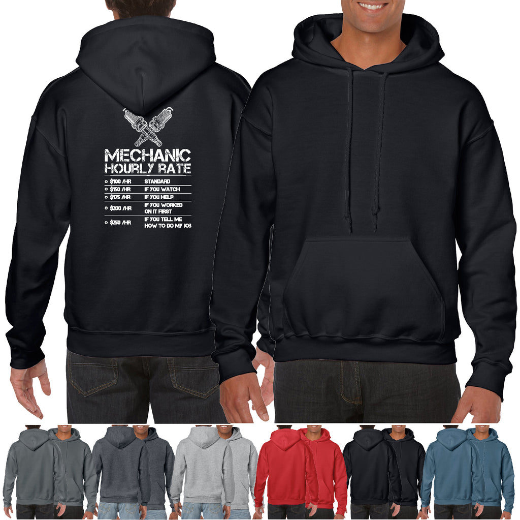 Mechanic hourly rate Funny Hoodie