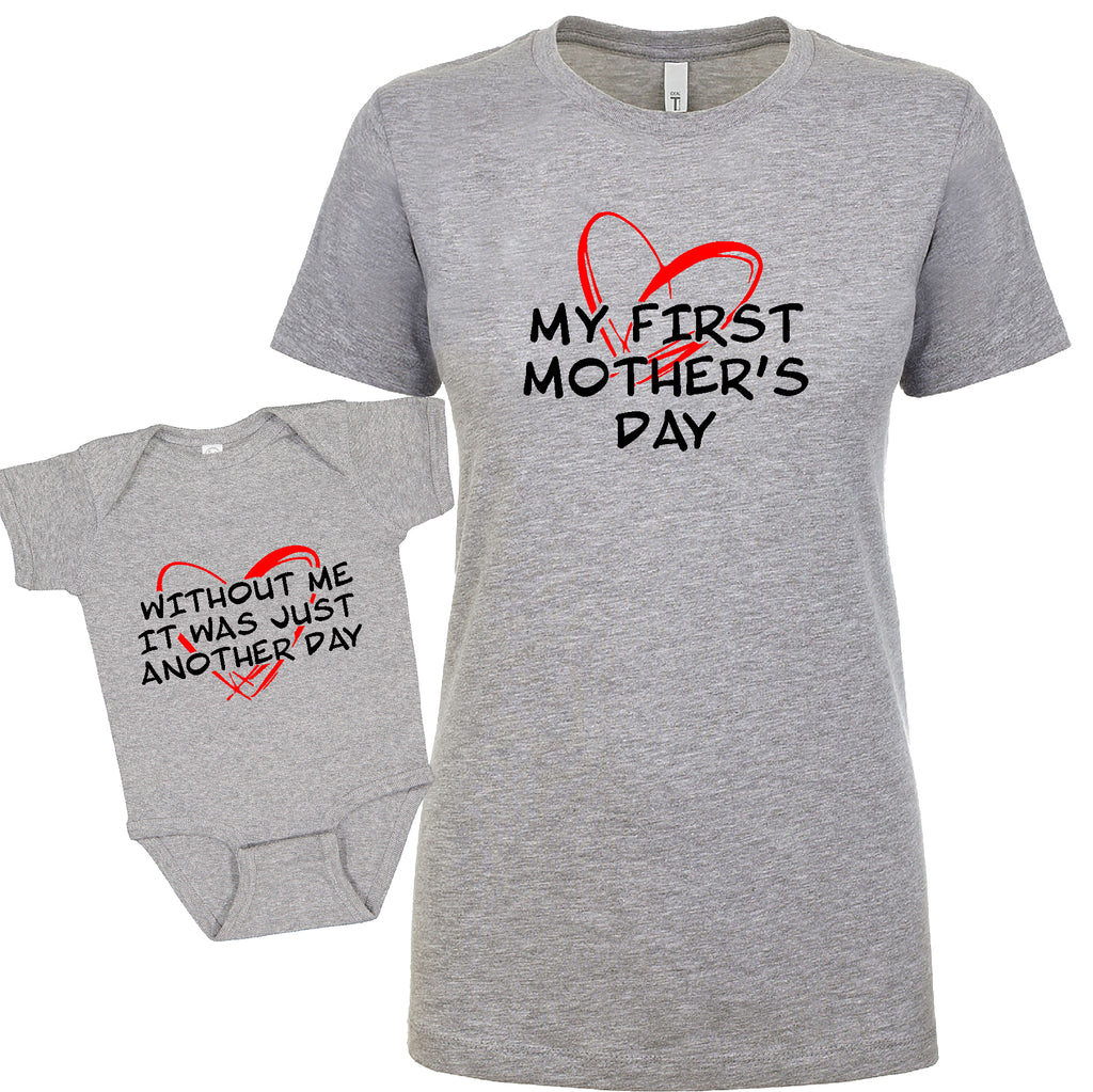 GREAT bundle Without me Mother's Day Mom&child  Funny Gift