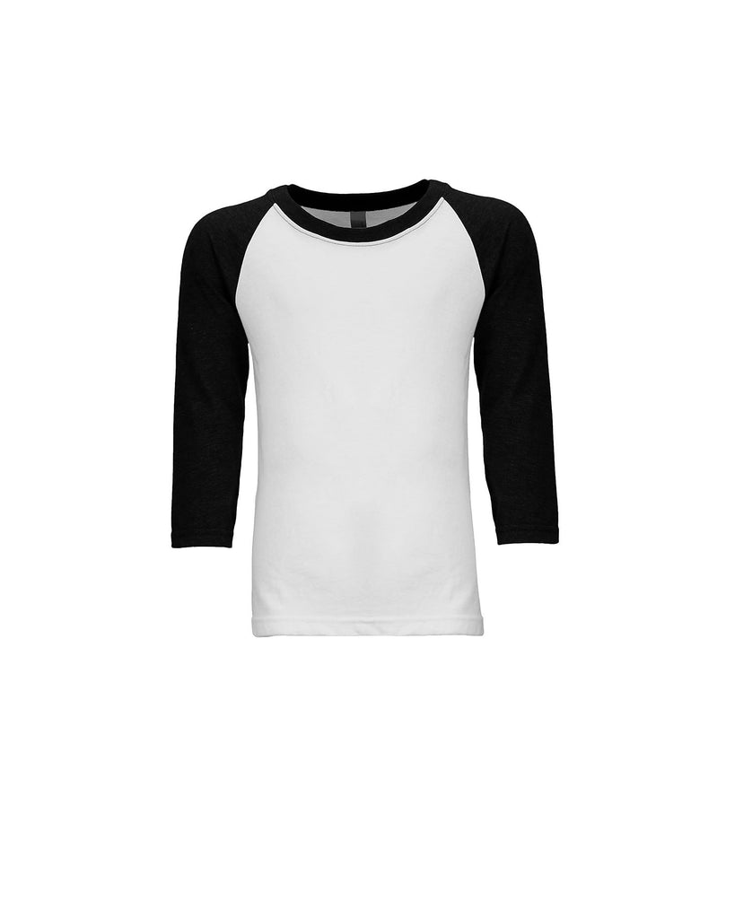 Next Level Youth CVC 3/4 Sleeve Raglan Tee NL3352