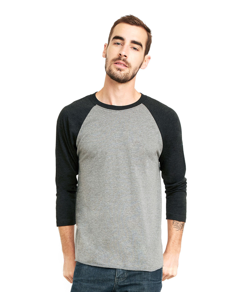Next Level Unisex Tri-Blend 3/4 Raglan Tee NL6051 - guyos apparel.com