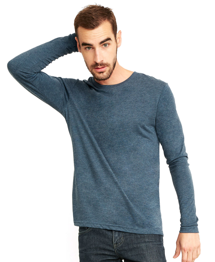 Next Level Men's Tri-Blend Long Sleeve Tee NL6071 - guyos apparel.com