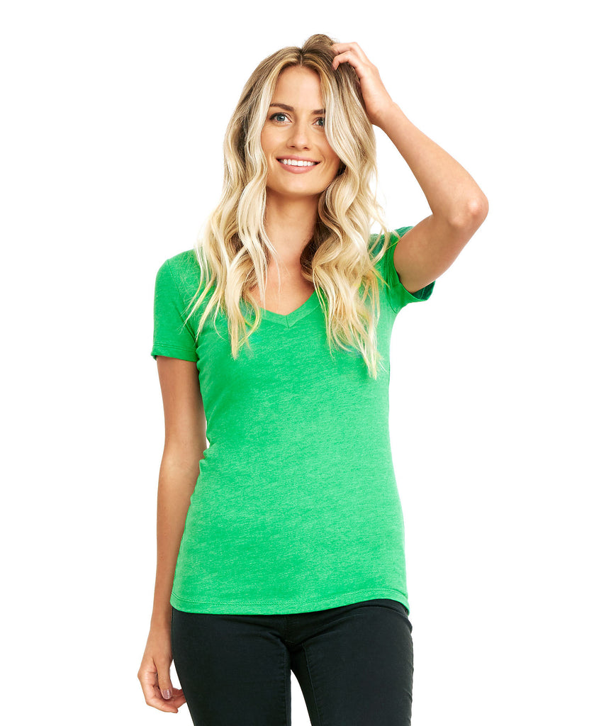 Next Level Women's CVC Deep V-Neck Tee NL6640 - guyos apparel.com