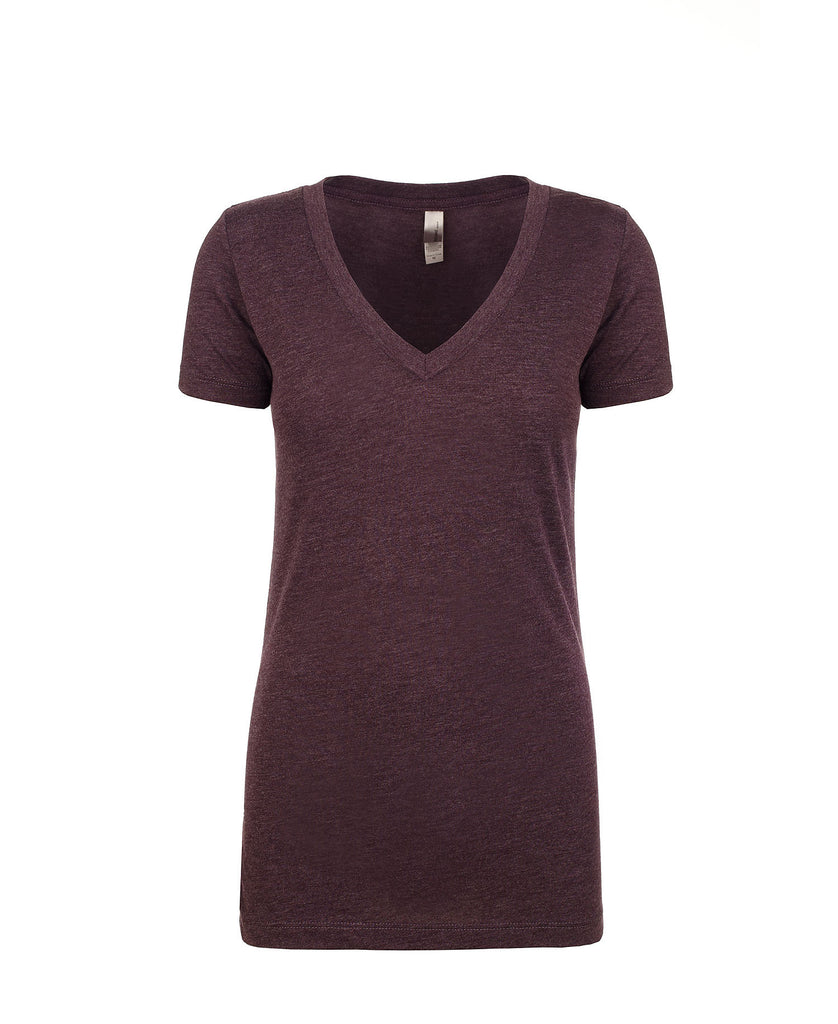 Next Level Women's Tri-Blend Deep V-Neck Tee NL6740 - guyos apparel.com