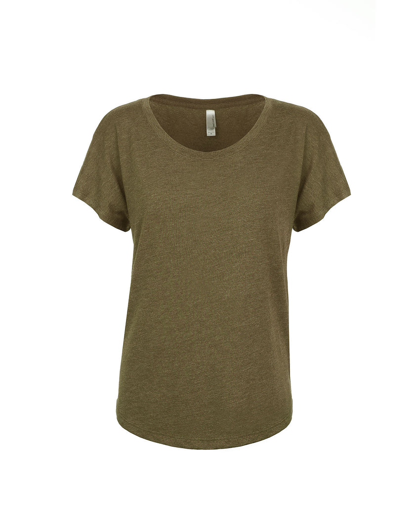 Next Level Women's Tri-Blend Dolman Tee NL6760 - guyos apparel.com