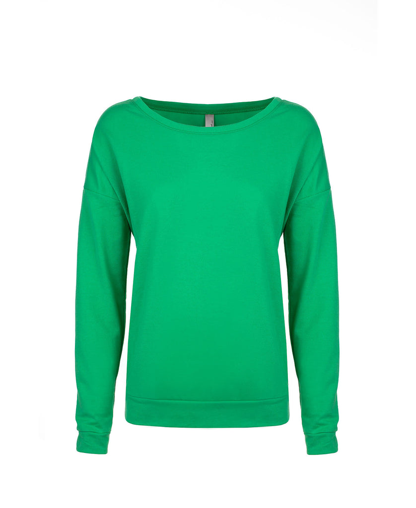 Next Level Women's French Terry Long Sleeve Scoop Tee NL6931 - guyos apparel.com