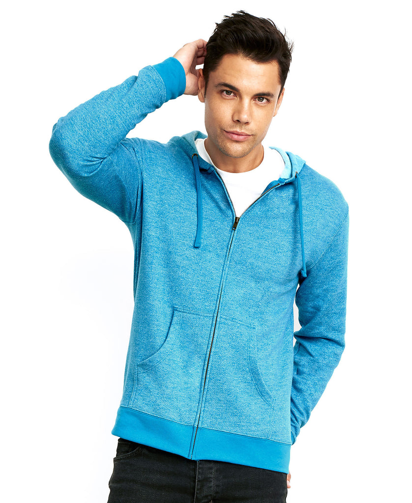 Next Level Unisex Denim Fleece Zip Hoody NL9600 - guyos apparel.com
