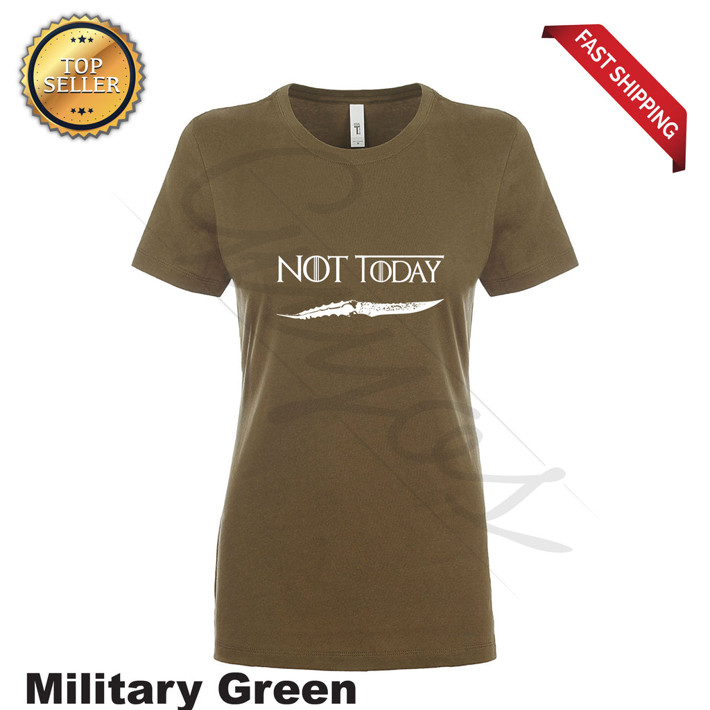 Not Today Funny Printed Women's T-Shirt