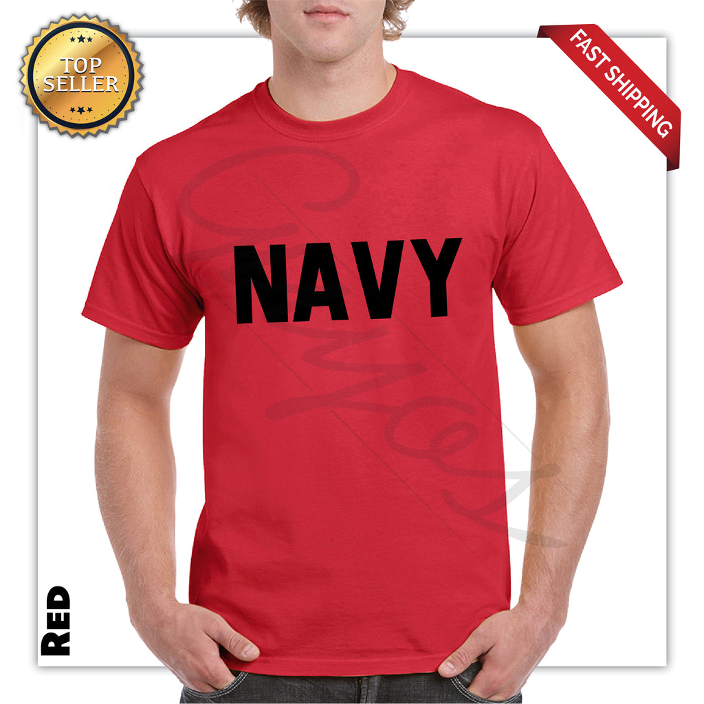 Navy Printed Men's Graphic T-Shirt