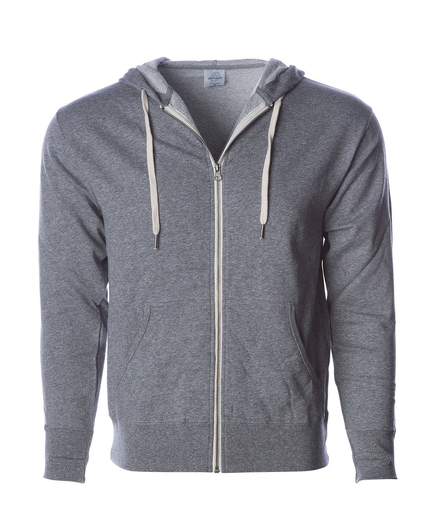 Independent Adult Midweight Heather French Terry Zip Fleece Hood PRM90H - guyos apparel.com