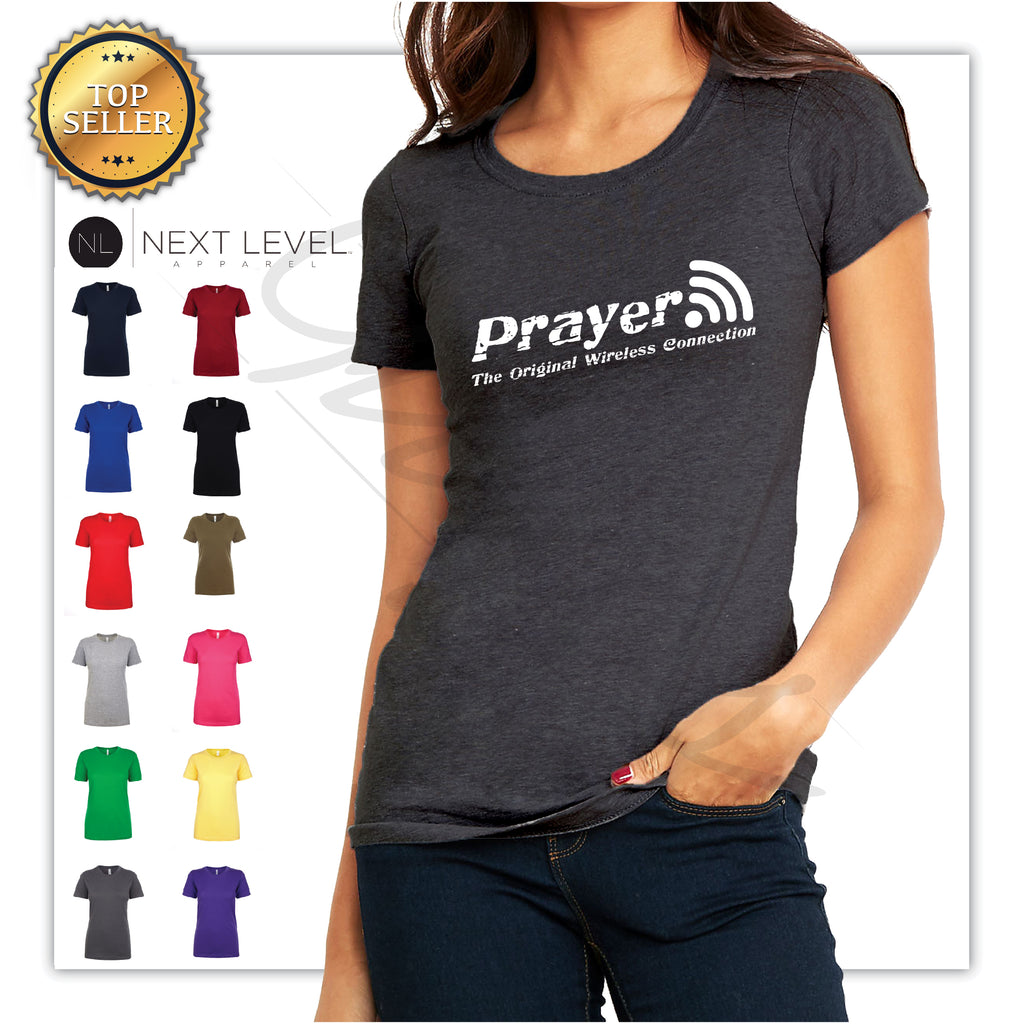 Prayer The Original Connection For Women Printed T-Shirt