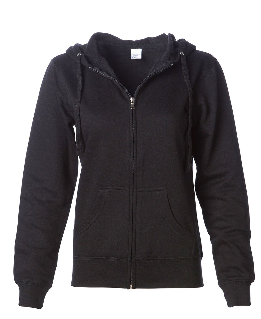 Independent Women's Lightweight Full Zip Hooded Fleece SS650Z - guyos apparel.com