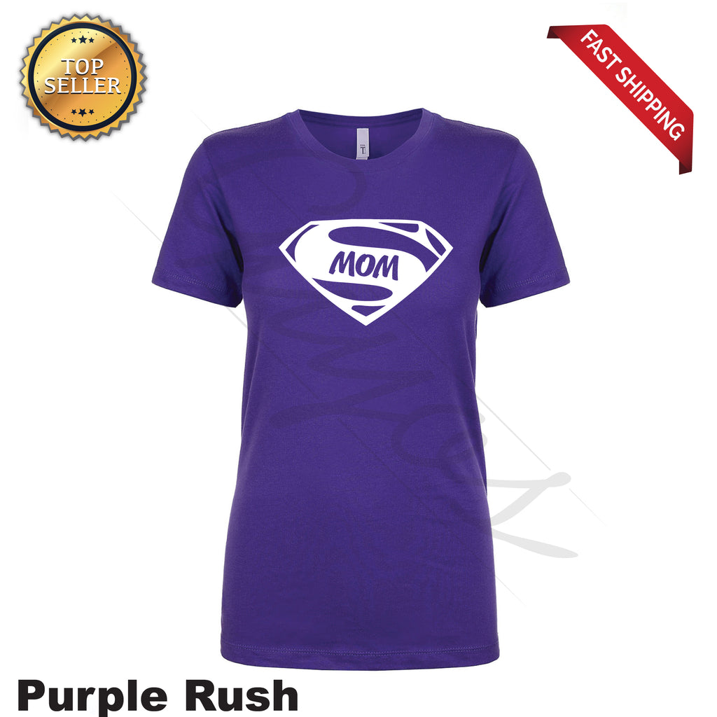 Super Mom Funny Printed T-Shirt - guyos apparel.com