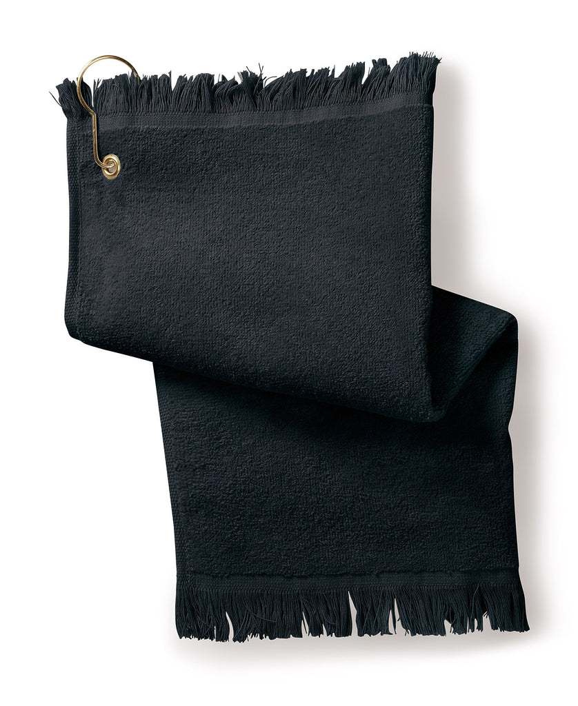 Gildan Towels Plus Fringed Fingertip Towel with Corner Grommet T60GH - guyos apparel.com