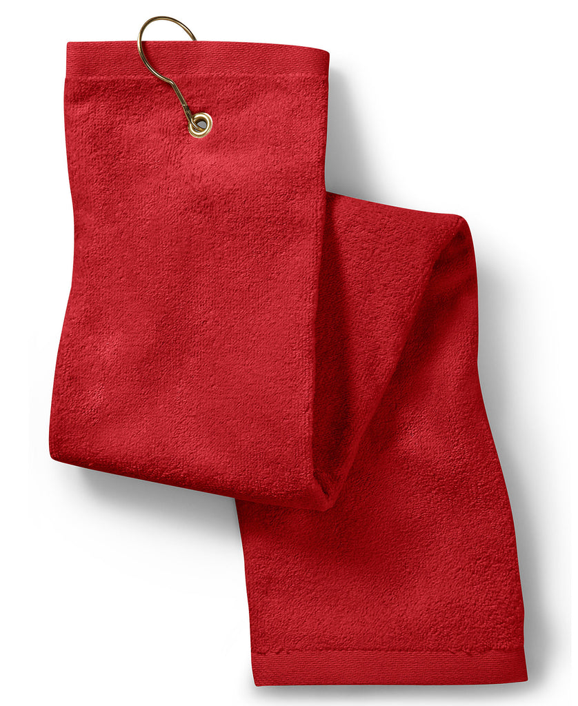 Gildan Towels Plus Deluxe Tri-Fold Hemmed Hand Towel w/Center T68TH - guyos apparel.com