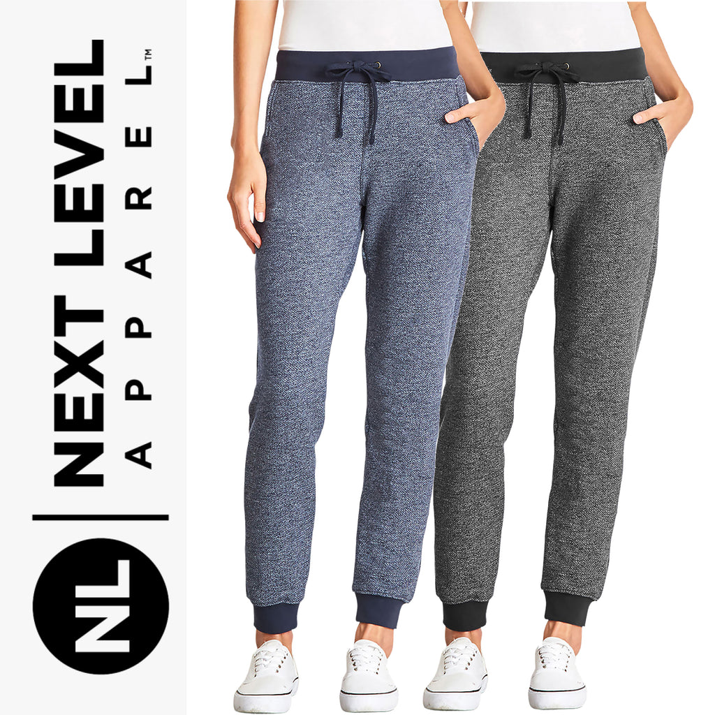 Next Level Women's Denim Fleece Joggers NL9801