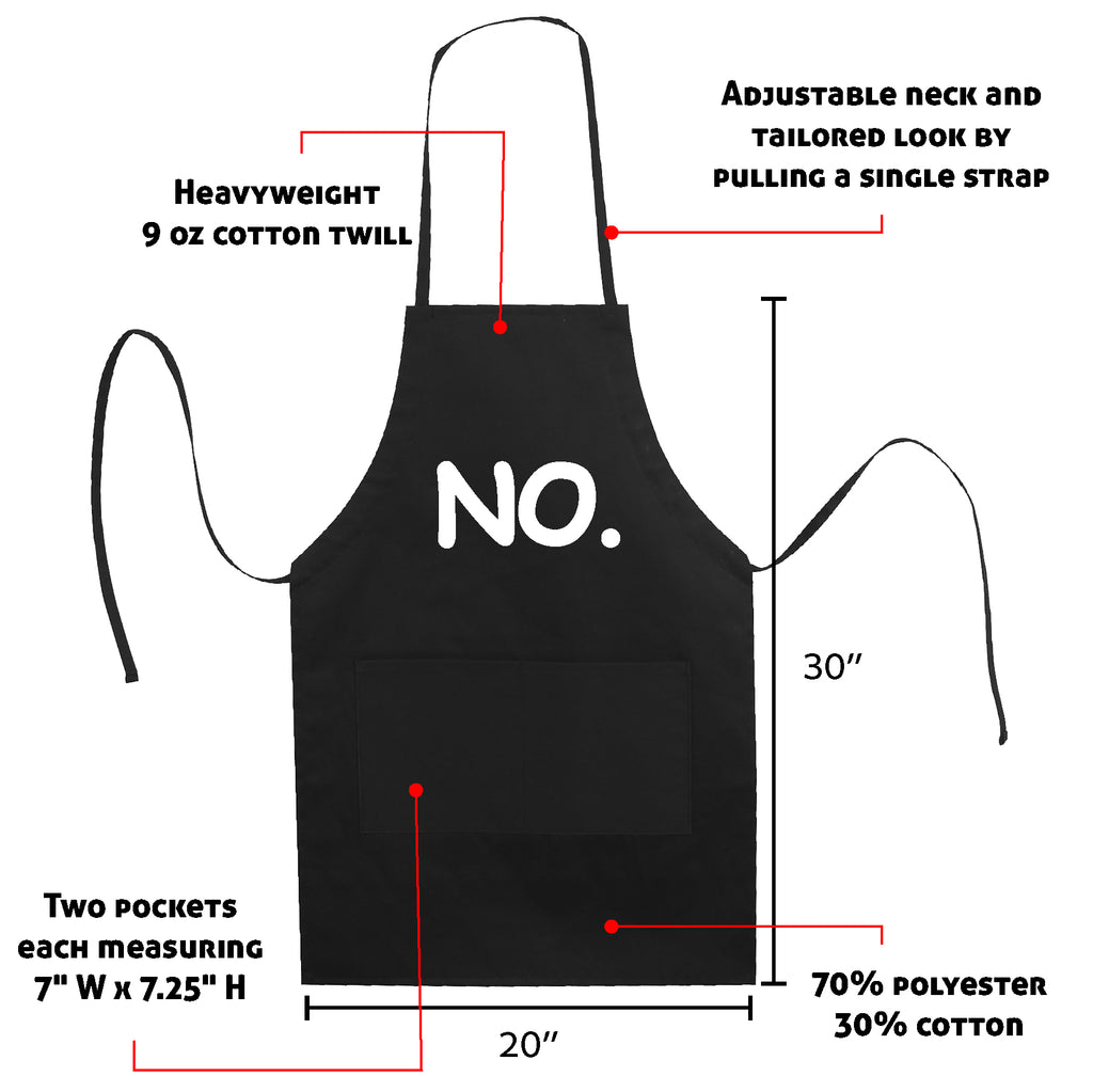 No. Means No! Funny Gift Kitchen Apron Mother's Day Gift Mom Funny LB5509