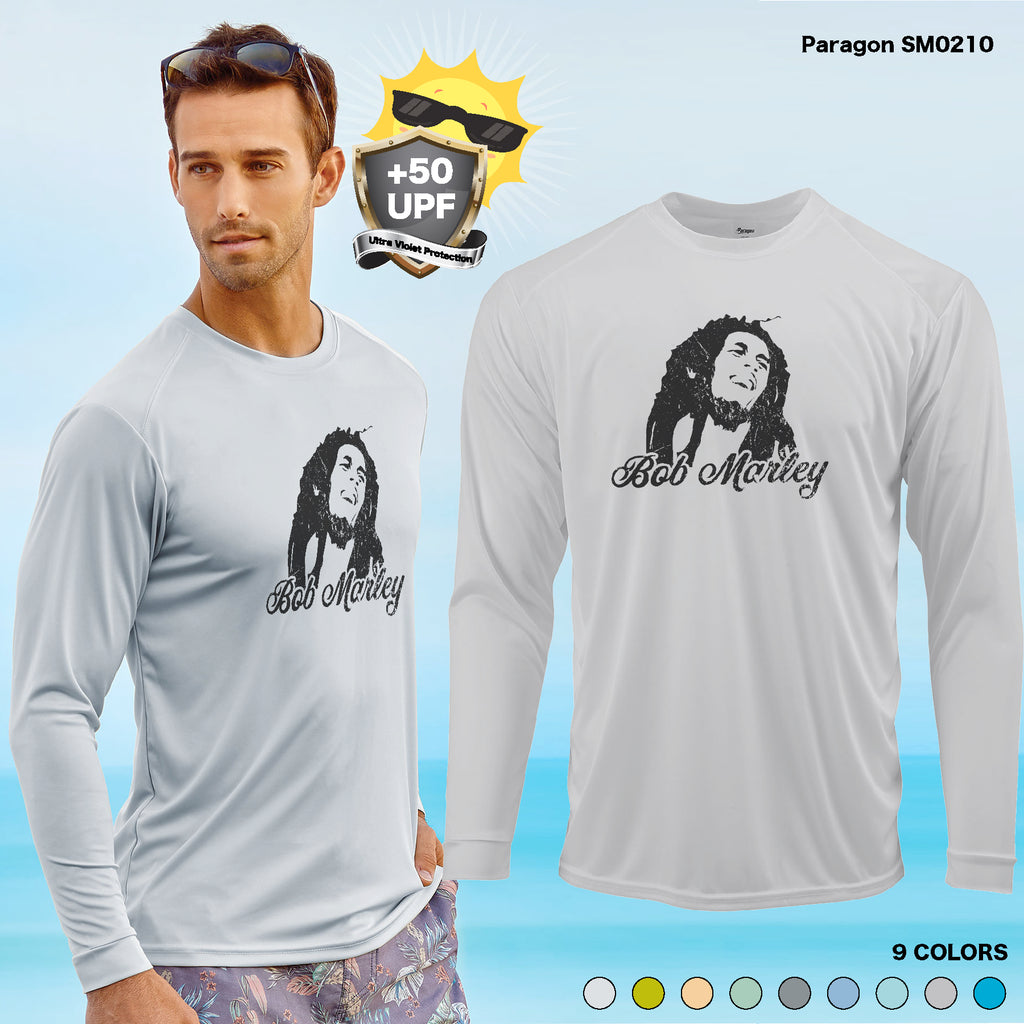 +50 UPF Sun protection BOB MARLEY Long Sleeve fishing boat  funny gift FISHING  BOAT T SHIRT