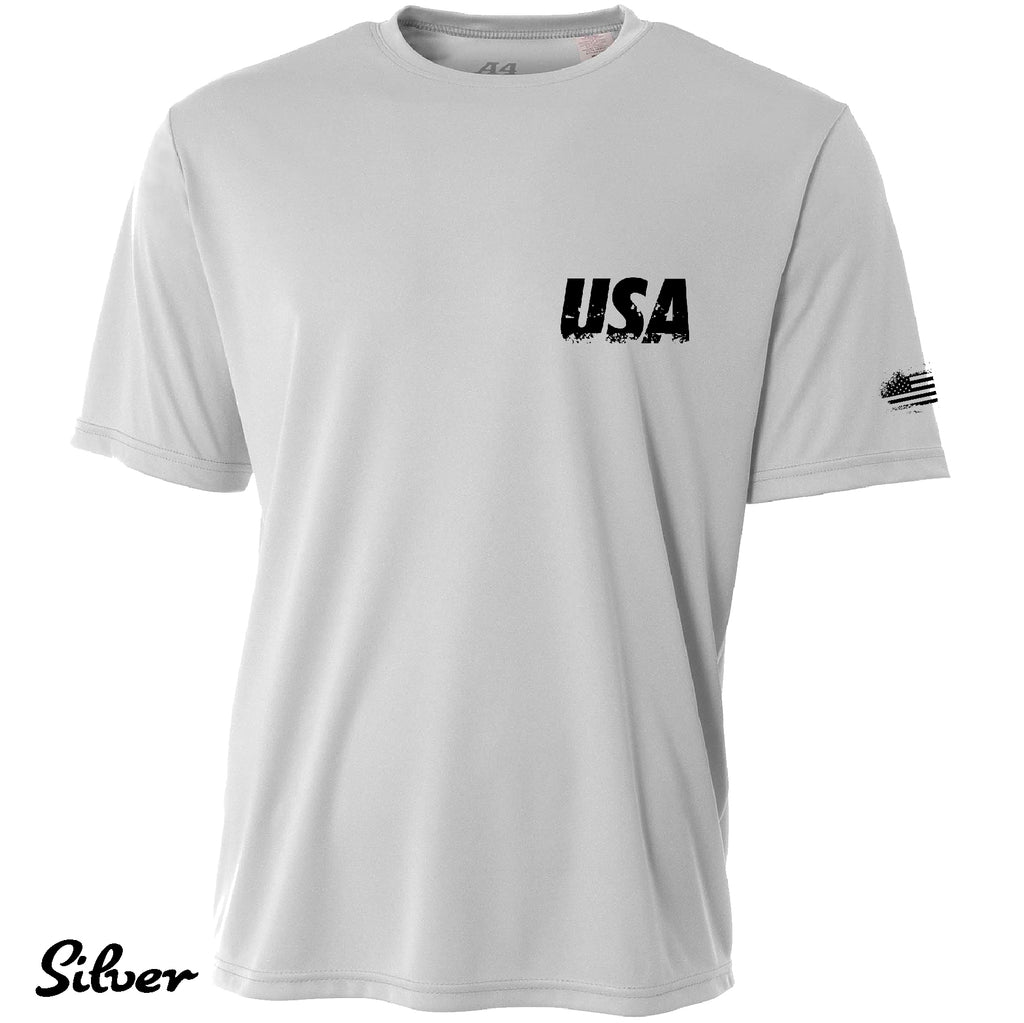 Proud American Distressed USAF Cooling Performance t shirt Moisture wicking tee