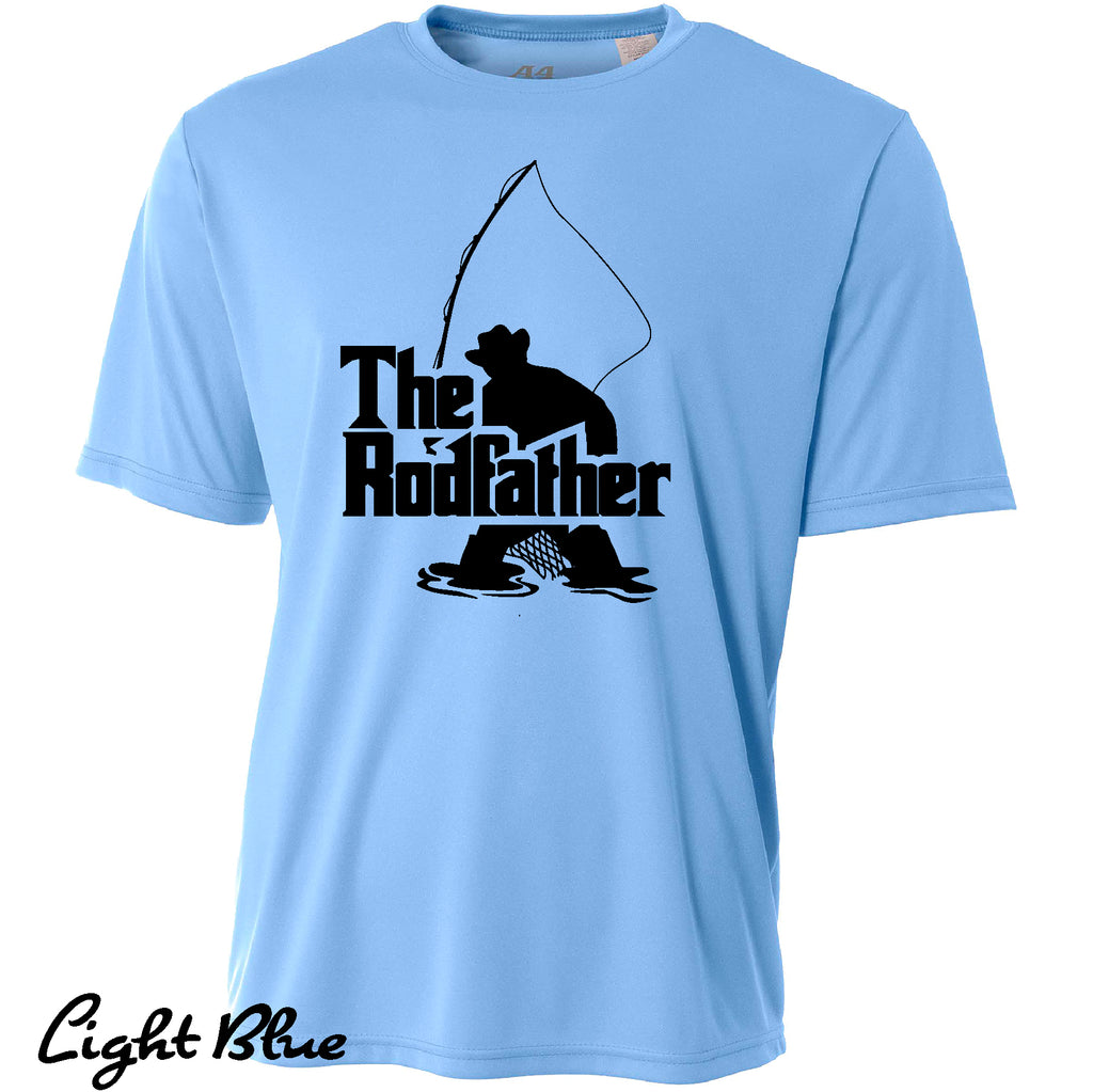 Funny Fishing RodFather Cooling Performance Gift t shirt Moisture wicking tee