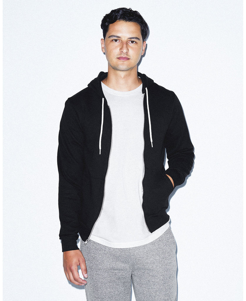 American Apparel Unisex Flex Fleece Zip Hooded Sweatshirt AAF497W - guyos apparel.com