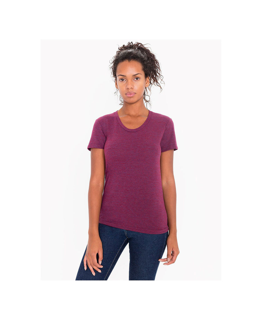 American Apparel Women's Tri-Blend Crew Neck Tee AATR301W - guyos apparel.com
