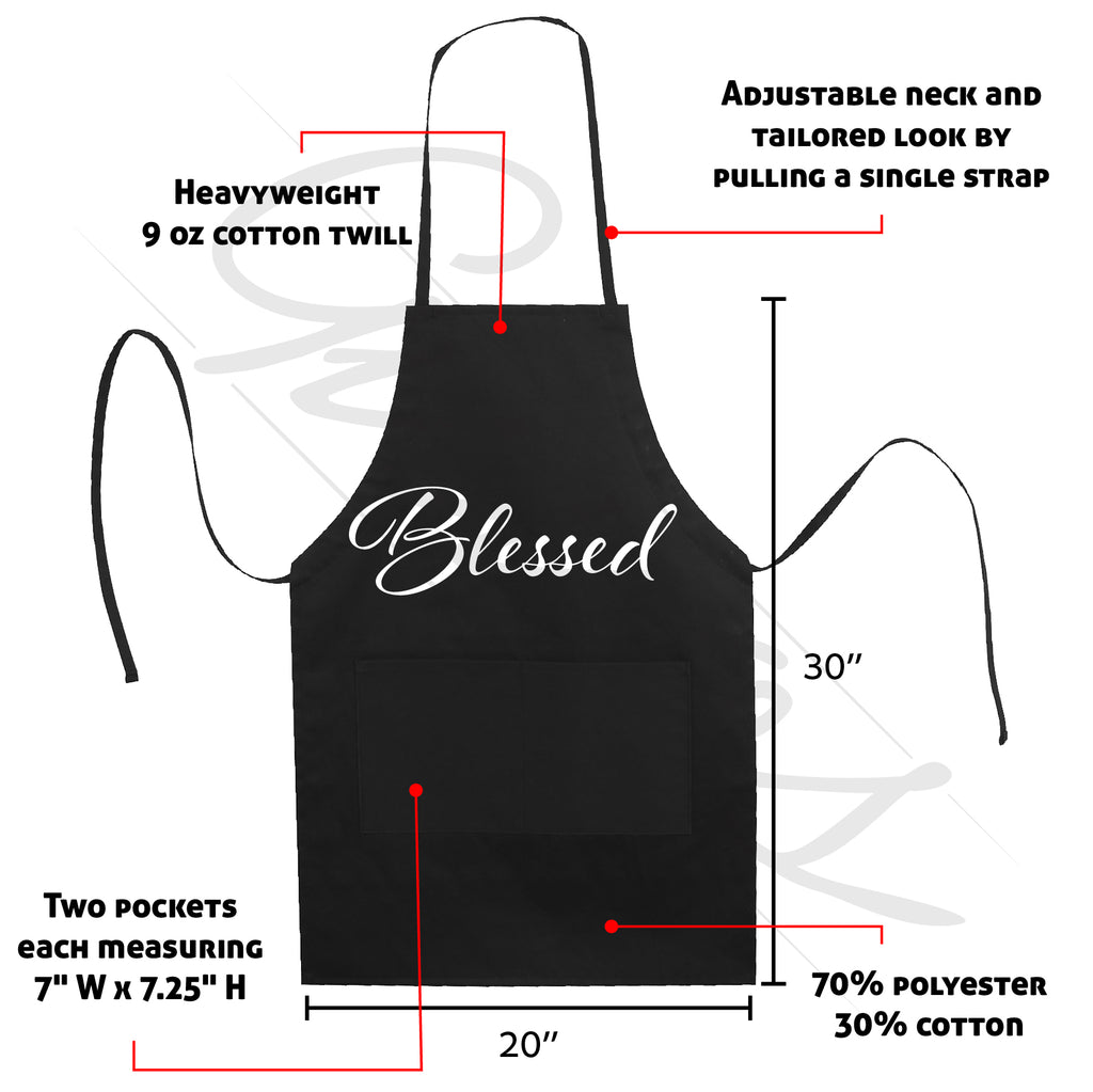 Great Blessed Apron Kitchen Mom Mother's Day Gift LB5502
