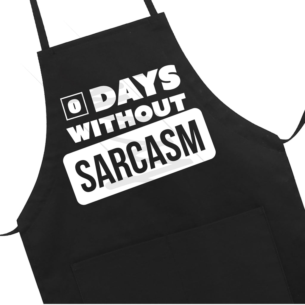 ZERO Days Without Sarcasm Apron LB5502