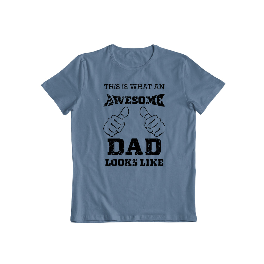 This is what an awesome dad looks like funny fathers day gift t shirt