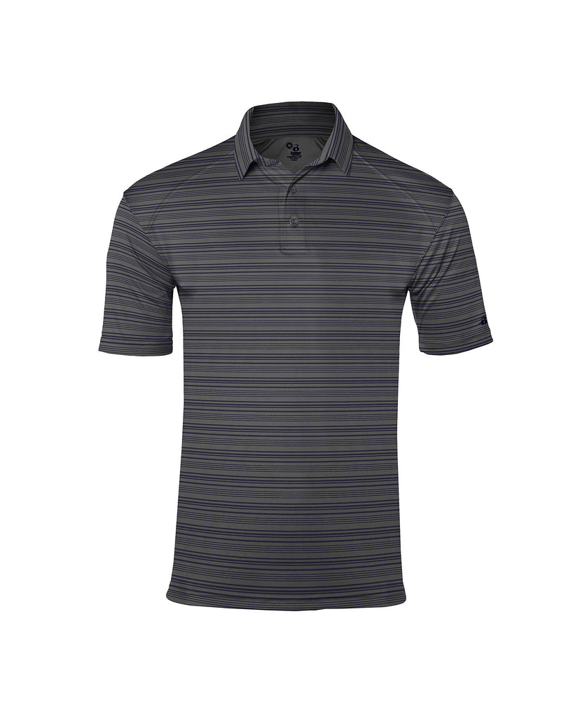 Badger Adult Sport Stripe Polo BG3325 - guyos apparel.com