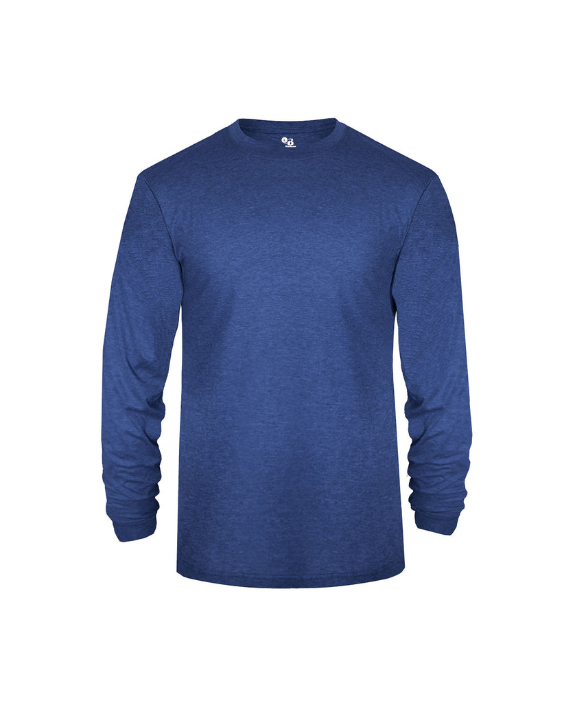 Badger Adult Tri-Blend Long Sleeve Performance Tee BG4944 - guyos apparel.com