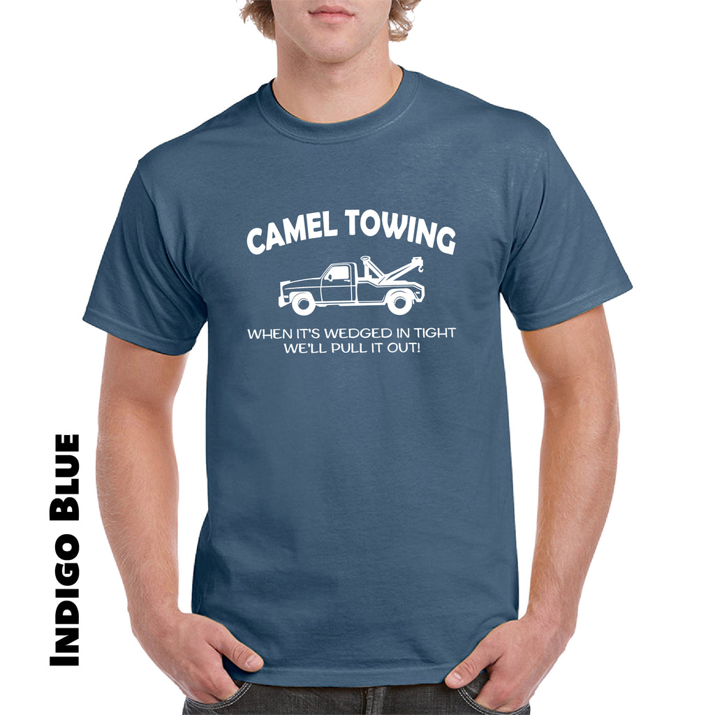 Camel Towing Funny T Shirt Adult Humor Rude Gift Tee Shirt Tow Truck Unisex Tee - guyos apparel.com